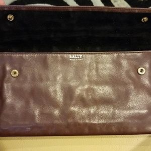 BALLY Vintage Money Wallet Brown Leather Logo